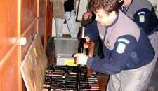 Echipament militar descoperit de vamesii români