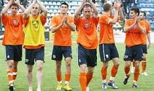 Fotbaliştii Universităţii au făcut turul de onoare al stadionului din Târgu Jiu