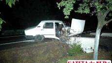 Autoturismul Dacia a intrat într-un cap de pod