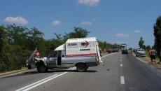 Accidentul a blocat circulaţia în jur de o oră
