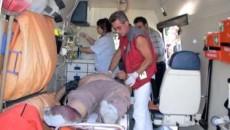 Medicii i-au acordat primul ajutor rănitului