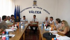 Conferinţa de presă a avut loc la sediul IPJ Vâlcea