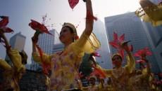 La chinezi, de Anul Nou au loc procesiuni pe stradă