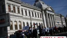 Profesorii craioveni protestează săptămânal împotriva retrocedărilor