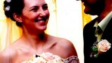 Mihai şi Cristina Paloş, în ziua nunţii