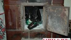 Geanta tinerei a fost găsită de poliţişti în soba din camera bărbatului