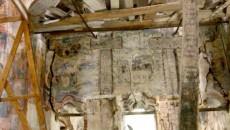 Interiorul bisericii din satul Cruci