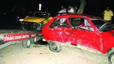 În urma accidentului, trei persoane au fost rănite grav