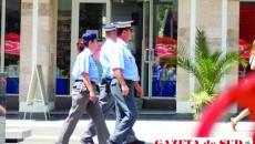 Poliţişti comunitari patrulând în haită
