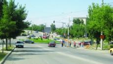 În giratoriul de la Consul s-au plantat semafoare