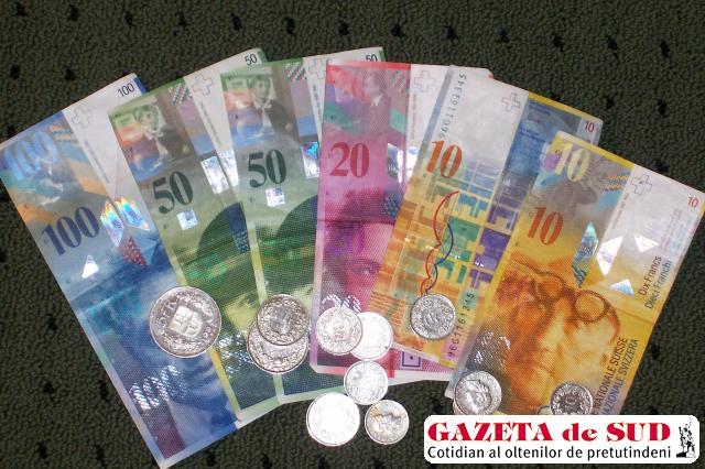 Francii elveţieni, scumpi la vedere pe piaţa noastră valutară