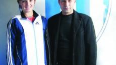 Pavel Badea, alături de cea mai valoroasă atletă din club, Ioana Doagă