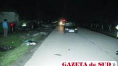Deşi a frânat, şoferul nu a putut evita accidentul