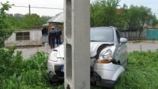 Maşina a fost grav avariată