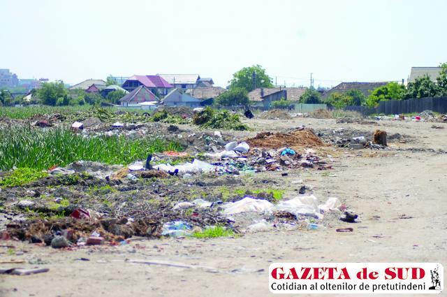 Terenuri private ajunse gropi de gunoi