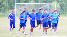După serii de alergare, alb-albaştrii îşi vor încerca forţele în cinci amicale