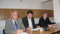 Şefii Fiscului doljean (de la stânga la dreapta): Ioan Filipescu, Eugen Călinoiu şi Mihai Antonescu