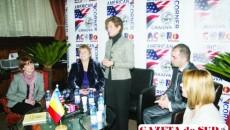 Excelenţa Sa, Elizabeth (Libby) Gitenstein, soţia ambasadorului Statelor Unite ale Americii  în România, s-a întâlnit cu tinerii voluntari din Dolj
