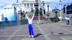 Ioana Doagă în centrul oraşului Helsinki, gazda Campionatului European de atletism