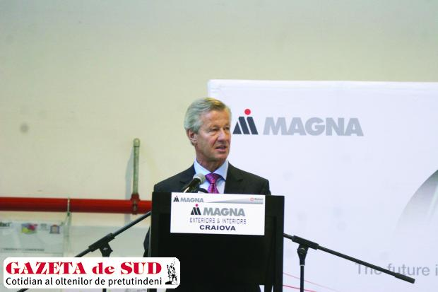 Luna trecută, la inaugurarea fabricii Magna Exteriors & Interiors Craiova, preşedintele Magna pentru Europa, Albert Lidauer, promitea locuri de muncă pentru craioveni