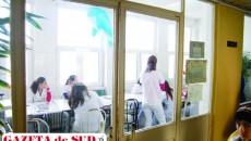 O parte din spaţiul sălii de mese va fi loc de recreere pentru copiii internaţi