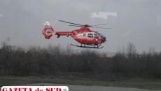 Elicopterul SMURD de la Craiova decolează spre misiuni doar pe timpul zilei
