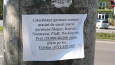 """La sfârşitul anului 2010, au apărut şi în Craiova anunţuri ale """"colecţionarilor"""" de maşini de cusut germane"""
