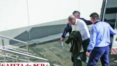 Comisarul Daniel Mircea Marin a fost dus ieri după-amiază la Curtea de Apel Craiova, cu propunere de arestare preventivă
