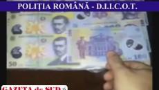 Anchetatorii au stabilit că cei trei doljeni au pus în circulaţie zeci de bancnote falsificate