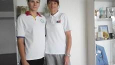 Denisa Rogojinaru (stânga) şi Luminiţa Trombiţaş