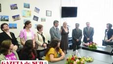 Inaugurarea Centrului de reuşită universitară, în prezenţa directorului Agenţiei Universitare a Francofoniei,  dar şi a studenţilor şi a conducerii Universităţii din Craiova