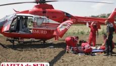 Daniel Enache a fost transportat cu elicopterul SMURD la Spitalul de Urgenţă Craiova