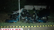 Aşa arăta autoturismul Opel după producerea accidentului