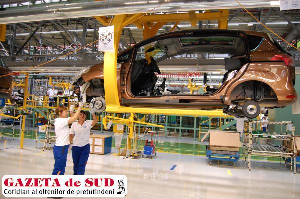 De luna viitoare, volumul de producţie pe lună se reduce semnificativ în fabrica Ford  din Craiova