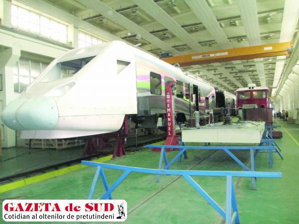 Prototipul trenului electric se află în construcţie la uzina Softronic din Craiova