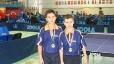 """Marius Rădoi şi Cristian Bogdan au obţinut bronzul la competiţia de tenis de masă """"Joola Mini Cadet Open Championships"""""""