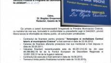 Răspunsul Primăriei Craiova arată că proiectul  Centrului Vechi a fost conceput de administraţia Antonie Solomon