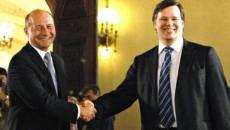 Băsescu, în anul 2010, în timpul unei întâlniri cu şeful Misiunii FMI de atunci, Jeffrey Franks (Foto: evz.ro)