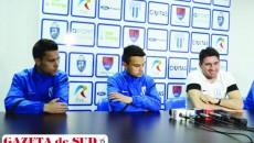 Andrei Sin, Cristi Ganea şi Ovidiu Stângă mizează pe o victorie în jocul de sâmbătă cu ASA Târgu Mureş