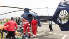 Tânăra a fost preluată cu un elicopter al SMURD