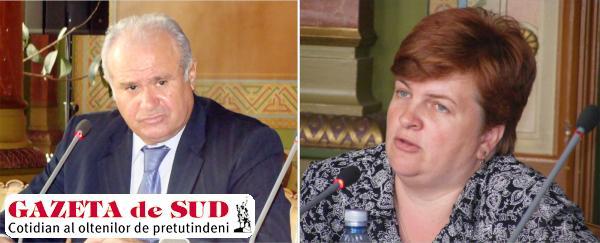 Ion Călinoiu, preşedintele CJ Gorj şi Mădălina Ciolocoi, vicepreşedintele CJ Gorj