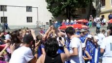 Jucătorii de la Asesoft au sărbătorit victoria alături de familii