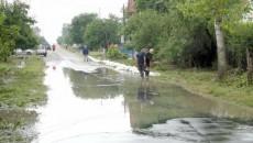 Drumul comunal din Ghercești a fost parțial inundat