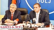 Prefectul județului Dolj, Sorin Răducan (dreapta), a cerut atenție sporită în ceea ce privește avertizările meteorologice de cod portocaliu pentru județul Dolj.