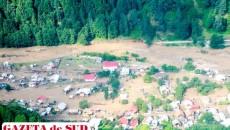 1.184 de persoane au fost evacuate, 99 de locuinţe au fost distruse, alte 168 - avariate şi 2.003 case inundate. De asemenea, au fost afectate 7 drumuri naţionale, pe porţiuni ce însumează 1,5 kilometri, 37 de  drumuri judeţene pe o distanţă totală de 88,7 kilometri şi 39 de drumuri comunale pe porţiuni totale de 239 de kilometri.