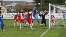 Gorjenii (în albastru) au obţinut primul succes pe teren propriu din acest sezon