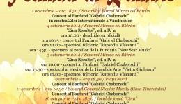 În Râmnicu Vâlcea vor fi organizate evenimente culturale pe parcursul întregii luni octombrie