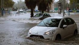 Cartierul Antigone din Montpellier, inundat  Foto: franceinfo.fr