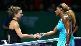Simona Halep (stânga) ştie că meciul de astăzi cu Serena Williams va fi mult mai greu decât cel de la mijlocul săptămânii, când românca a învins clar liderul WTA