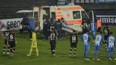 Nicuşor Bancu a părăsit terenul urlând de dureri, sub privirile îngrozite ale jucătorilor de pe teren